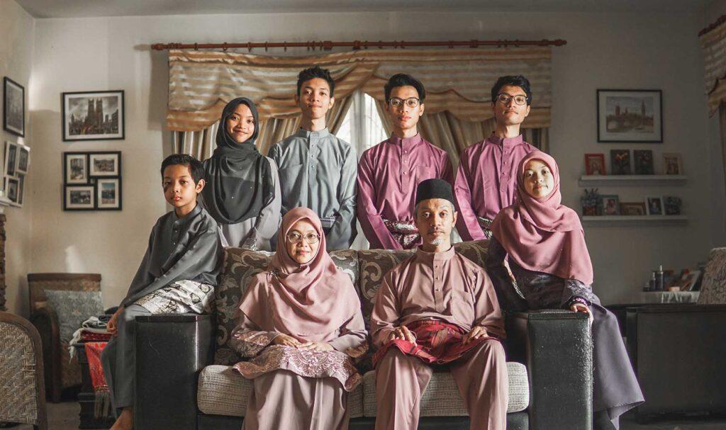 マレーシアの家族写真